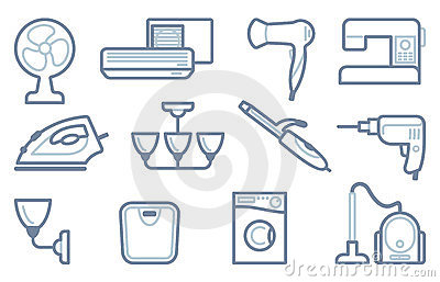 Home Appliances Icons Royalty Free Stock Photography - Image: 23953467