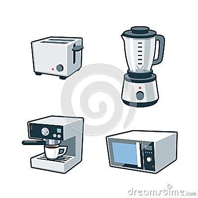 Mr Coffee Microwave Coffee Maker : Home Appliances 3 - Toaster, Blender, Coffee Maker, Microwave Ov Stock Vector - Image: 42167494