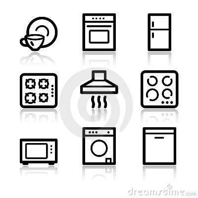 Home appliances web icons