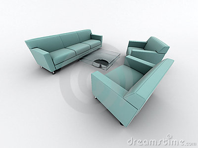Home armchair and sofa