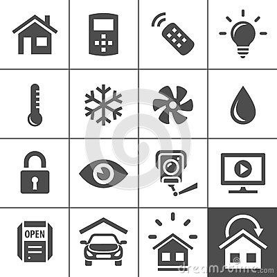 Free Home Automation Control Systems Icons Stock Images - 41834804