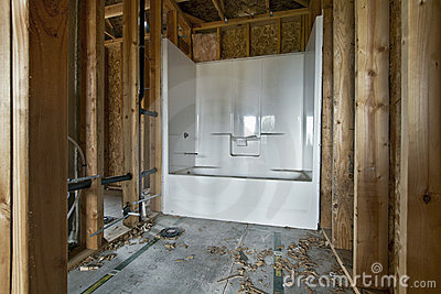 Bathroom Construction Photo Image 40859030 – Bathroom Construction