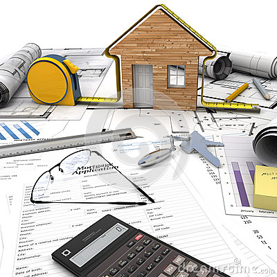 Home building process stock images image 35381184 for Mortgage for house under construction