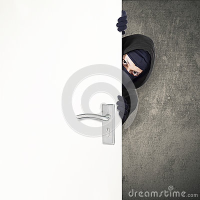 Free Home Burglary Concept Royalty Free Stock Photography - 38126247