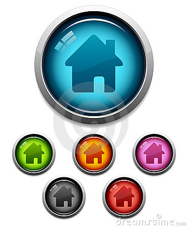 Free Home Button Icon Stock Images - 6042014