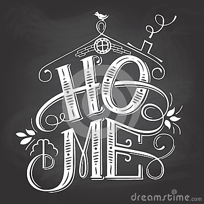 Free Home Chalkboard Sign Hand-lettering Stock Photo - 88454310
