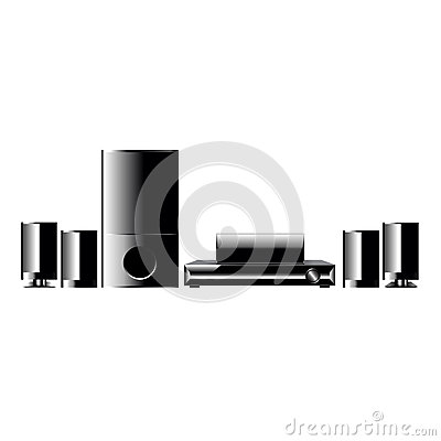 Home Cinema Player Vector