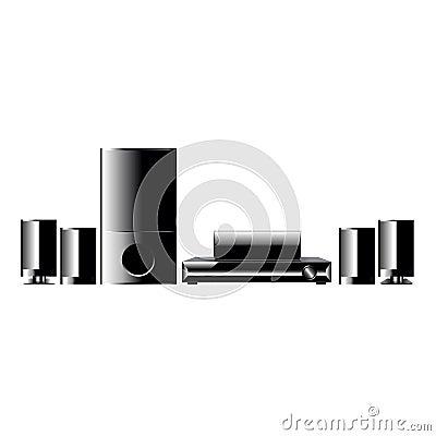 Home Cinema Player Vector