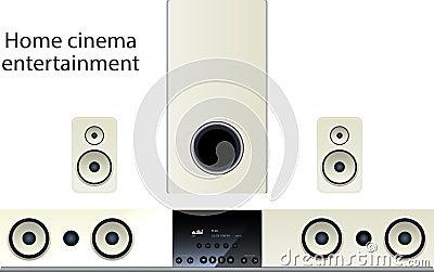 Home cinema speker system