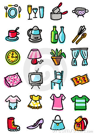Home and clothing icons