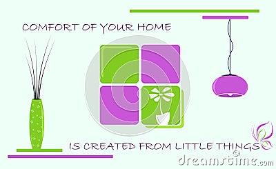 Home comfort, vector illustration
