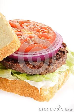 Home cooked hamburger
