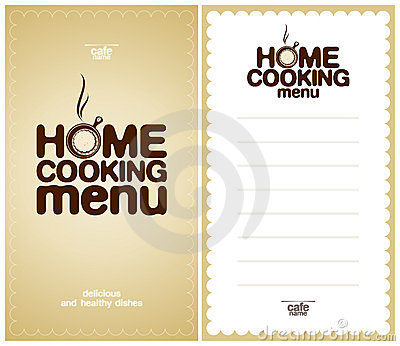 Home Cooking Menu Design template.