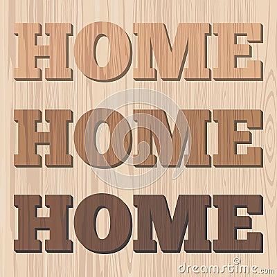 Home 3D wooden letter