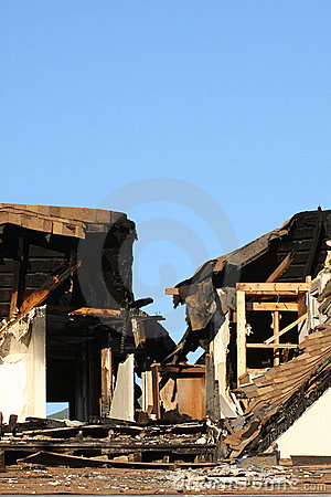 Free Home Damaged By Fire Royalty Free Stock Photos - 23212788