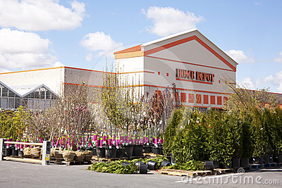 Home Depot Garden Center Editorial Stock Image