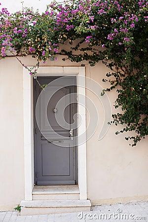 Home door in Saint Tropez