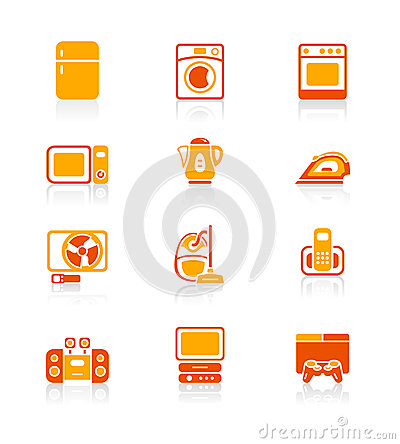 Home electronics icons | JUICY series