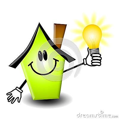 Free Home Energy Lightbulb Cartoon Stock Photography - 4681972