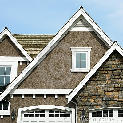 Home Exterior House Roof Peak Stock Image Image 5151031