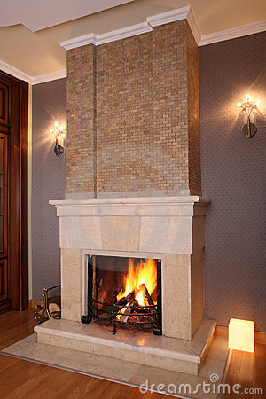 Free Home Fireplace Royalty Free Stock Photography - 11689257
