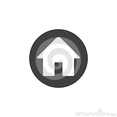 Free Home Flat Icon. Round Simple Button, Circular Vector Sign Royalty Free Stock Photography - 95340797