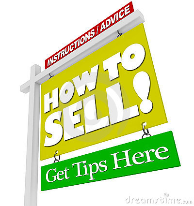 Free Home For Sale Sign How To Sell Advice Information Stock Photos - 21614403