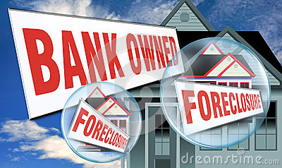 Home foreclosed by bank