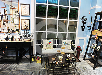 Home furnishing expo Editorial Stock Image