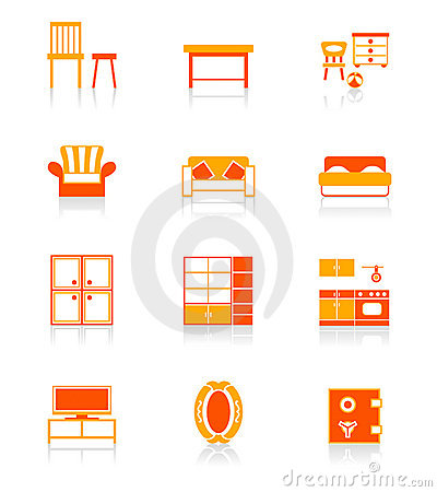 Home furniture icons | JUICY series