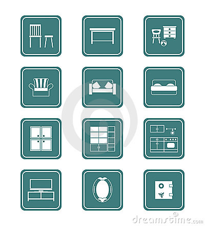 Home furniture icons | TEAL