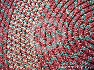 Home: handmade coiled rag rug