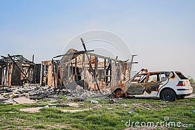Home houses Car vehicles burned insurance