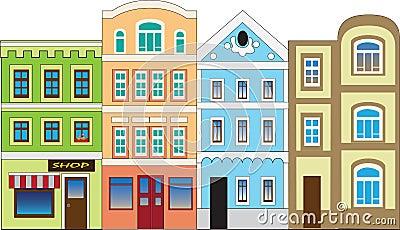 At home Cartoon Illustration