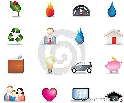 Home icon button set