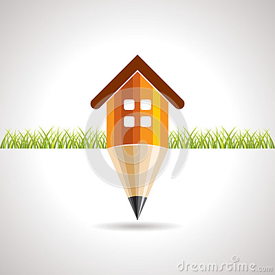 Home icon with pencil