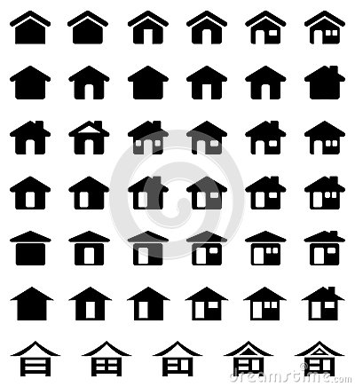Free Home Icon Set Royalty Free Stock Photography - 44850457