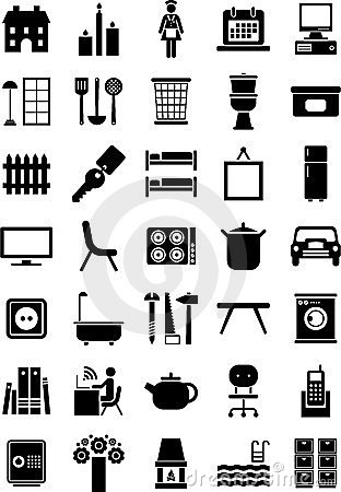 Free Home Icons Royalty Free Stock Photography - 23933547