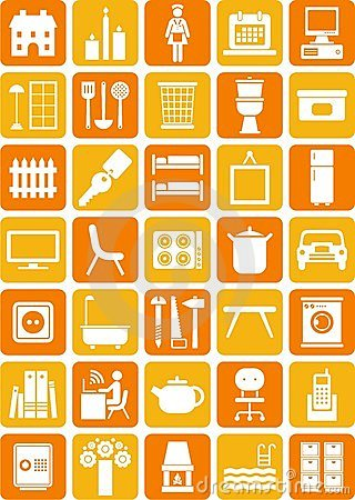 Free Home Icons Royalty Free Stock Photography - 23933557