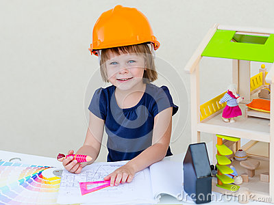 Home improvement. House under construction. Stock Photo