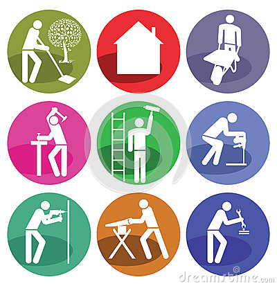 Home Improvement Icons Royalty Free Stock Photos - Image: 2299098