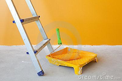 Home Improvement /  ladder and paint roller
