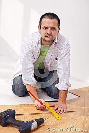 Home improvement - laying laminate flooring