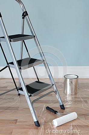 Free Home Improvement. Room Prepared For Painting. Royalty Free Stock Photography - 26368687