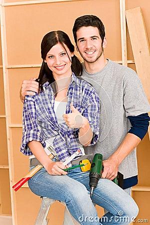 Free Home Improvement Young Couple DIY Repair Tools Stock Photos - 20880593