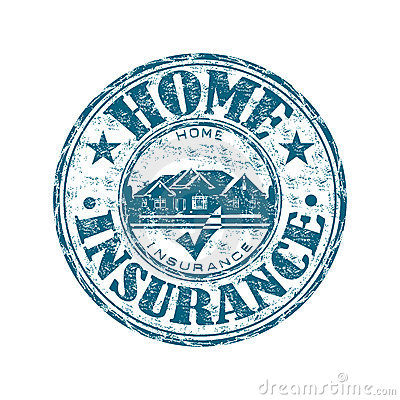 Free Home Insurance Rubber Stamp Stock Photography - 19745662