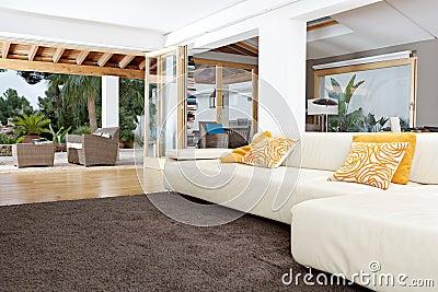 Home Interior with Carpet