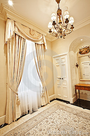 Home interior: Drapery