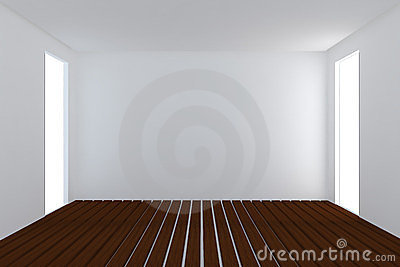 Home interior rendering with empty room