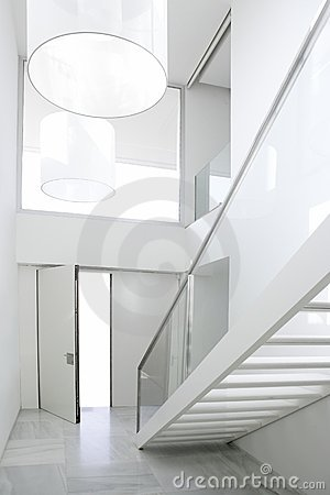 Home interior stair white architecture lobby royalty free stock image image 9913436 - Deco hal binnenkomst huis ...